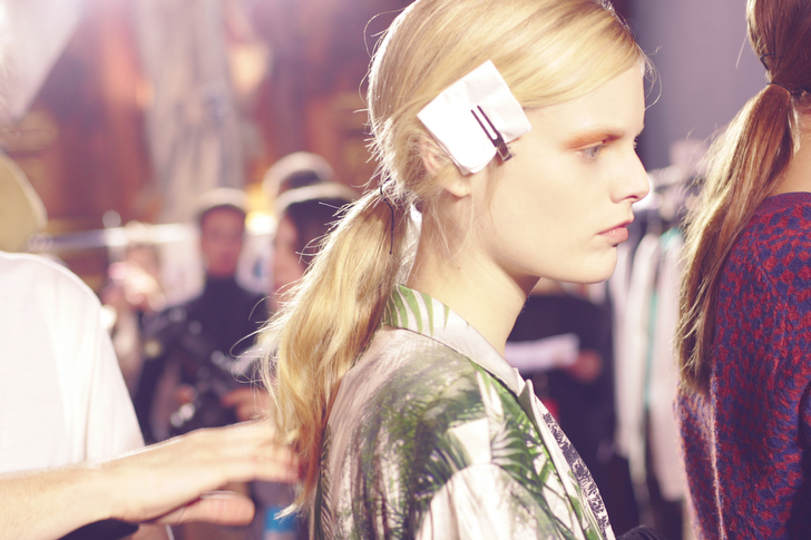 Dries Van noten, Backstage, Hanne Gaby Odiele